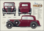 Armstrong Siddeley Sports Foursome (Red) 1934-36