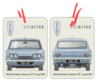 Reliant Scimitar GT Coupe SE4 1964-66 Air Freshener