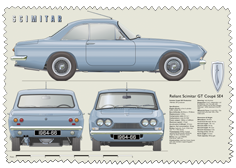 Reliant Scimitar GT Coupe SE4 1964-66 Glass Cleaning Cloth