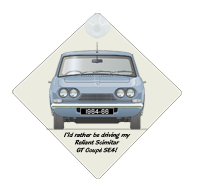 Reliant Scimitar GT Coupe SE4 1964-66 Car Window Hanging Sign
